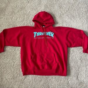 Vintage 90s Thrasher Hoodie Size XL Mens Red Blue